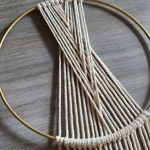 Macrame Geometric Wall Decor Hanging Hoop